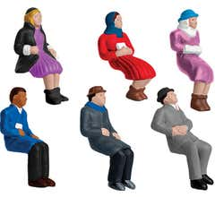 Lionel #1930220 Sitting People 6-Pack