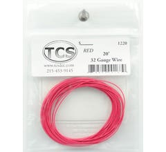 TCS #1209 32 Gauge Red 10' length wire