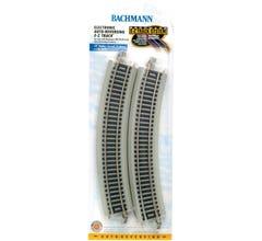 "Bachmann #44549 E-Z Track Nickel Silver w/Grey Roadbed 18"" Radius Curved Electronic Auto-ReversingTrack"
