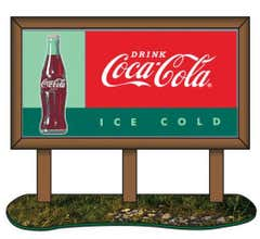 Classic Metal Works #20240 1960s Coca-Cola Country Billboard