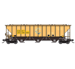 Trainworx #24424-04 PS4427 Covered Hopper - CSXT #253860