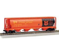 Bachmann #19154 Canadian 4-Bay Cylindrical Grain Hopper - Road Name Government of Canada - Red