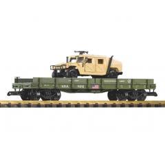 PIKO #38764 US Army - Flatcar w/Humvee