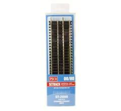 "Peco #ST2000 Code 100 Nickel Silver Standard Straight - Setrack -- 15-1/2"" 40cm pkg(8)"