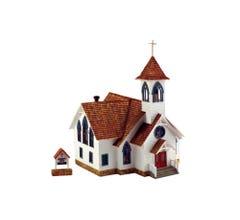Woodland Scenics #BR5041 Community Church (BUILT UP)