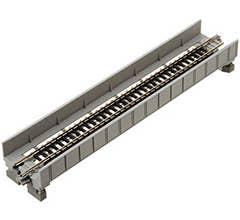 "Kato #20-452 186mm (7 5/16"") Single Track Plate Girder Bridge, Gray"