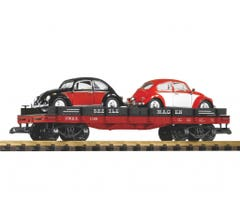 PIKO #38765 Flatcar w/VW Beetles (2pcs)