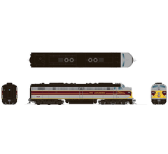 Rapido #28519 EMD E8A with DC/DCC/Sound: Erie Lackawanna - Grey and Maroon: #813