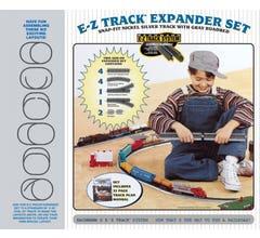 Bachmann #44594 Nickel Silver Layout Expander Set Nickel Silver E-Z Track w/Grey Roadbed