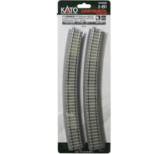 "Kato #2-251 790mm (31 1/8"") Radius 22.5º CT Superelevated Curve Track [4 pcs]"
