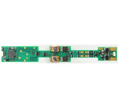 TCS #1293 K1D4 4 function drop-in decoder for N-scale locomotives