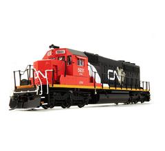 Broadway Limited #2276 EMD SD40-2 CN #6128 Red Black & Gray Scheme Paragon2 Sound/DC/DCC HO