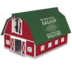 MTH #30-90602 Barn - Broken Spoke Saloon