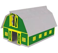 MTH #30-90406 Barn - Green with Yellow Trim
