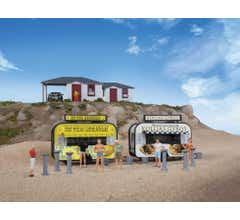 Walthers #949-2906 Gyro and Lemonade Food Trailers - Kit