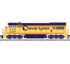 Atlas #10003439 U23B Locomotive w/DCC/Sound - C&O CHESSIE #2313