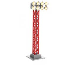 Lionel #6-82746 Christmas Red Floodlight Tower Plug N Play
