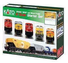 """Kato #106-0020 GE ES44AC 'GEVO"""" & Mixed Freight Starter Set- CN"""