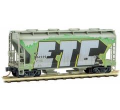 Micro Trains #09244240 2-Bay Covered Hopper Norfolk Southern Weathered