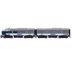 Broadway Limited #6681 EMD F7 A/B Set WAB 1104/1104B Blue Gray & White A-unit Paragon4 Sound/DC/DCC Unpowered B