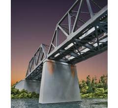 Walthers #933-4552 Double-Track Railroad Bridge Concrete Pier 2-Pack Kit