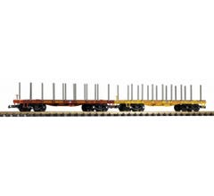 PIKO #38774 UP Flatcar/ stakes 2-Pack
