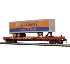 MTH #20-95420 CP Rail Flat Car w/ 40' Trailer