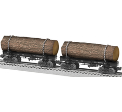 Lionel #1926590 NY & Penna Skeleton Log Car 2 Pack B