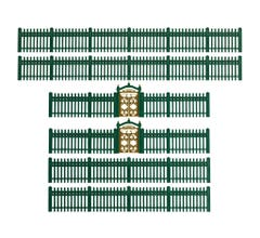 Lionel HO #2057150 Iron Fence - Green