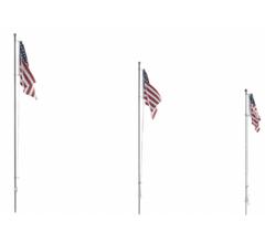 Woodland Scenics #JP5952 Large US Flag- Pole