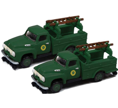 Classic Metal Works #50387 1954 Ford Hi-Rail Maintenance Truck- Southern (2 Pack)