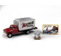 Classic Metal Works #40014 1955 CHEVY BEER TRUCK W/KEGS SKID & BUILDING SIGN (ACME BEER)