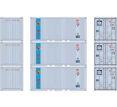 Athearn #27840 20' Corrugated Container w/Panel MOLU (3pcs)