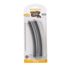Bachmann #44852 12.50 in. Radius Curved Track (6/card)