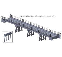 Walthers #933-4591 Modern Short Span Concrete Railroad Bridge - Kit