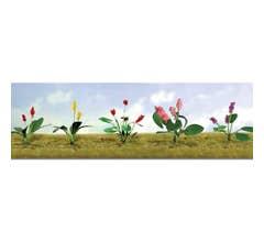 """JTT #95562 Flower Plants Assortment #3, 3/4"""" High (10/pk)"""