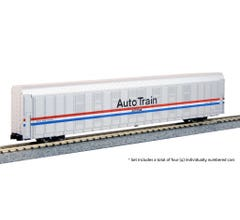 Kato #106-5507 Autorack Amtrak Phase III Auto Train 4-Car Set #1