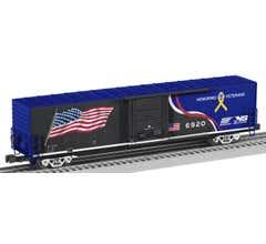 Lionel #2026360 Norfolk Southern Veterans - LED Flag 60' Boxcar
