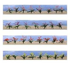 """JTT #95549 Flower Plants 3/4"""" O scale 30/pk"""