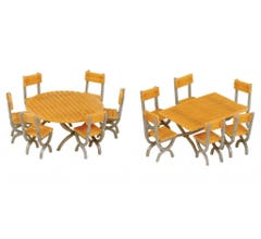 Walthers #949-4191 Tables and Chairs