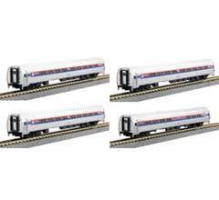 KATO #106-8011 Amfleet I Phase I 4-Car bookcase set