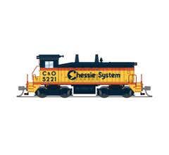 Broadway Limited #3933 EMD SW7 C&O 5221 Chessie System Paragon4 Sound/DC/DCC