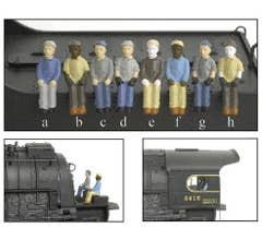 Broadway Limited #1007 4-Pack B (efgh) HO Figures