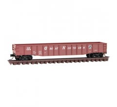 Micro Trains #10500541 50' Steel Side 15-Panel Fixed End Gondola with Fishbelly Sides - Great Northern