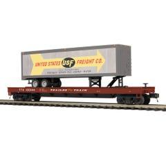 MTH #20-95218 U.S. Freight Flat Car w/ 40' Trailer