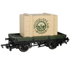 Bachmann #77404 Thomas & Friends - 1 PLANK WAGON WITH SODOR STEAM WORKS CRATE