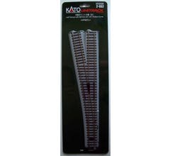 """Kato #2-862 #6 492mm (19 3/8"""") Manual Left Turnout with 867mm (34 1/8"""") Radius Curve"""