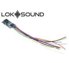 """ESU #58813 LokSound 5 micro DCC/MM/SX/M4 """"blank decoder"""" single wires with Speaker 11x15mm gauge N TT H0"""