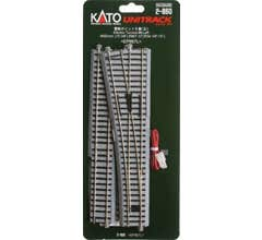 """Kato #2-860 #6 492mm (19 3/8"""") Powered Left Turnout with 867mm (34 1/8"""") Radius Curve"""