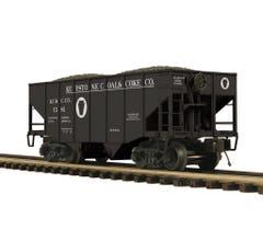 MTH #20-97395 2-Bay Fish Belly Hopper Car - Keystone Coal & Coke